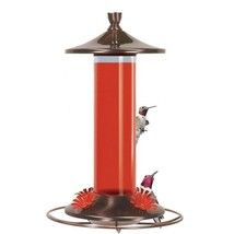 Perky Pet Brushed Metal & Glass Hummingbird Feeder 12oz 710B - $19.75