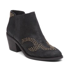 Lucky Brand Maiaa Studded Bootie Almond Toe Suede leather Sz 6.5M - $39.88