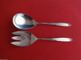 "Willow by Gorham Sterling Silver Salad Serving Set 2pc All Sterling 9"" - $221.45"