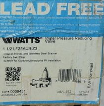 Watts Water Pressure Reducing Valve 1 1/2 Inch Lead Free 0009431 image 5