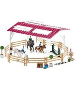 Schleich 42403 Riding School with Pick-Up and Horse Box Play Set, Multic... - $110.76