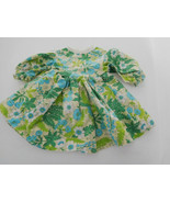"""Vintage Green Flowered Cotton Dress for 14"""" - 16"""" Doll - $15.99"""