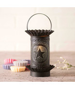 Classic Farmhouse Mini Wax Warmer With Kettle Black Punched Regular Star... - $41.68