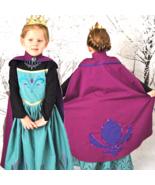 Frozen Queen Elsa Coronation Gown Dress Costume with Pink Cape - $13.98 - $14.99