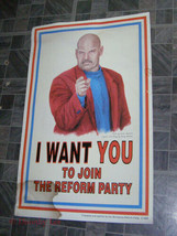 Jesse Ventura I Want You To Join The Reform Party Poster - $16.00