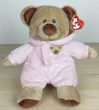 "2013 Ty Pluffies Baby Pink Bear 9"" Pajamas Plush With Tag - $17.81"