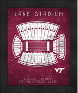 "Virginia Tech Lane ""Retro"" Stadium Seating Chart 13x16 Framed Print  - $39.95"
