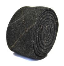 Frederick Thomas grey/gray check 100% wool tweed tie FT2170