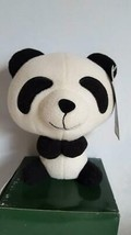 "7.5""PANDA HOUSE PLUSH BIG HEAD STUFFED PANDA TEDDY BEAR,BLACK,WHITE,FLOC... - $4.94"