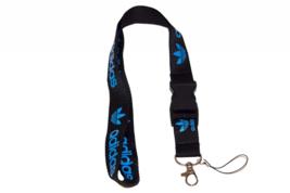 Lanyard Keychain Holder Key Chain Black Clip With Webbing Strap (Adidas) - $8.45