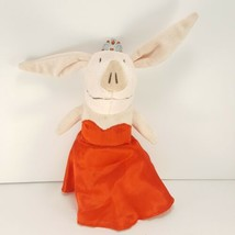 Olivia the Pig Plush Fancy Red Satin Dress And Tiara Spin Master Stuffed... - $13.36