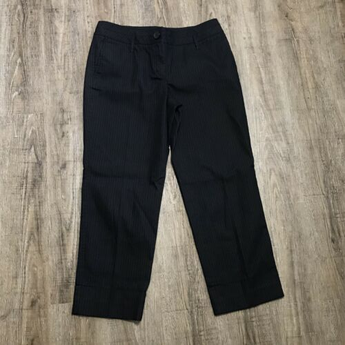 "Primary image for Ann Taylor Loft Cropped Pants ~ Sz 8 ~ Black ~ Mid Rise ~ 26"" Inseam"