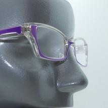 Ombre Violet Crystal Modern Cat Eye +1.25 Reading Glasses Wide Frame - $14.97
