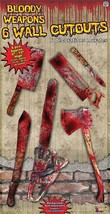 Bloody Weapon Cut Out Set, Halloween Party Accessory Prop/Room Decoration - $2.46
