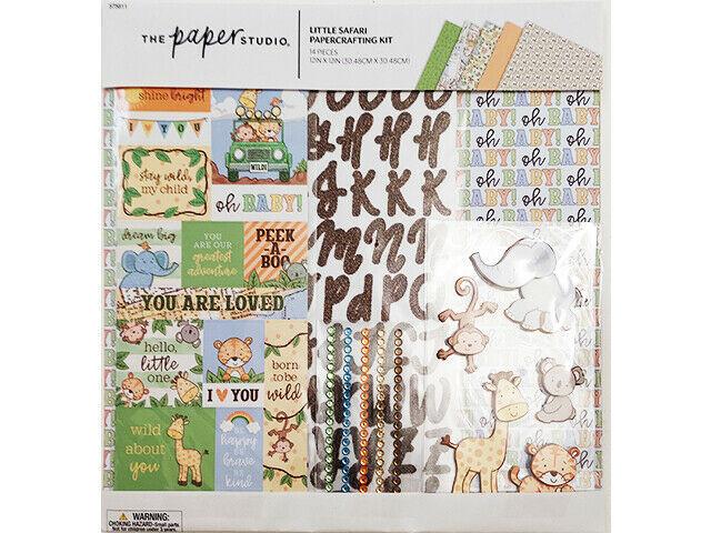 The Paper Studio Little Safari Papercrafting Kit, Kids, Scrapbooking #575811