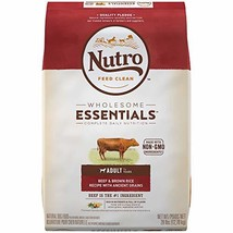 NUTRO WHOLESOME ESSENTIALS Adult Natural Dry Dog Food Beef & Brown Rice Recipe w