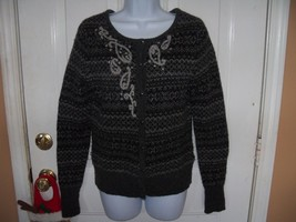 Eddie Bauer Lamb's Wool Blend Dark Gray Sweater Size S Women's Euc - $32.00