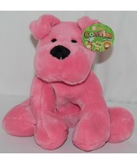 Fiesta Brand Comfies Collection A52862 Hot Colors Pink Plush Puppy Dog - $15.00