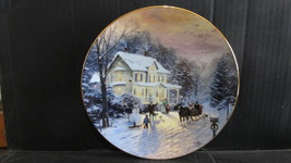 "Thomas Kinkade's Home For The Holidays,"" Sleighride Home "" Collector Plate - $20.99"
