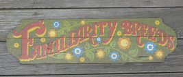 GEORGE NATHAN WOOD HAND CRAFTED BAR SALOON ART PLAQUE SIGN Familiarity B... - $23.74