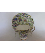 Vintage English Bone China Cup & Saucer with Paisley Chintz Pattern - 1950s - $22.99