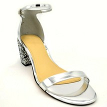 Marc Fischer Womens Safia Sandal Sz 10M Silver Ankle Strap Cushioned Foo... - $27.30