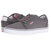 VANS Chukka Low Pewter/White/Red Skate Shoes MEN'S 6.5 WOMEN'S 8 - $44.95