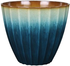 allen + roth 18.58-in x 17.32-in Teal Resin Planter - $61.71 CAD