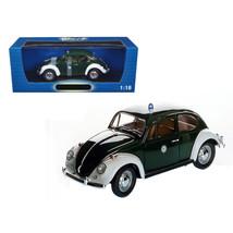 1967 Volkswagen Beetle Kafer Stuttgart Germany Police Car 1/18 Diecast M... - $69.15