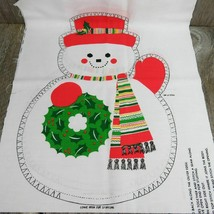 Snowman Fabric Panel Cut Sew Stuffed Animal Decoration Toy Pillow Spring... - $29.69