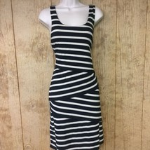 Ann Taylor Loft Dress Small Striped Tiered Layered Ruffle Rayon Bodycon - $15.83
