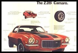 1972 Chevy Camaro, Z28 Sales Brochure MINT Original 72 - $8.06
