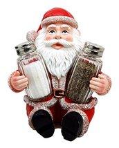 Ebros Jolly Seasons North Pole Santa Claus Salt And Pepper Shakers Holde... - $19.75