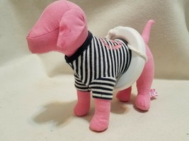 Pink By Victoria's Secret Dog With Inner Tube Striped T-shirt - $14.24