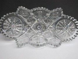 American Brilliant Period hand Cut Glass oblong shape dish ABP - $83.22