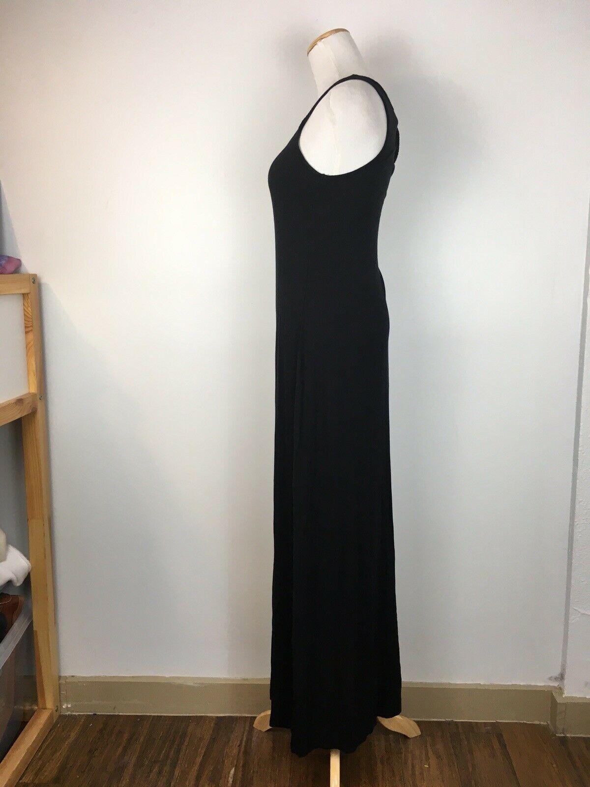 Old Navy Women's Black Sleeveless Summer Floor Maxi Dress Size Extra Small