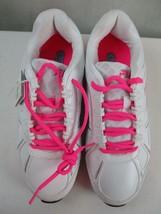 Women's Fila  Athletic Shoes Veil Train White Sneakers Size 7.5  Pink Trim - $14.84