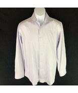 Canali Mens Button Front Dress Shirt Stripe Pink 39 15 1/2 - $39.59