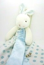 Bunnies by the Bay Carrots Baby Security Blanket Blue Polka Dot Bunny Bl... - $21.99