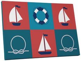 "Pingo World 0722Q9ULAUY ""Sail Boats and Knots Children Kids"" Gallery Wra... - $53.41"