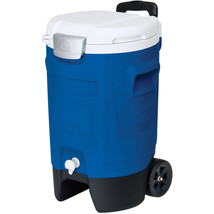 Igloo 5-Gallon Beverage Roller Majestic Blue Portable Rolling Container ... - $34.85