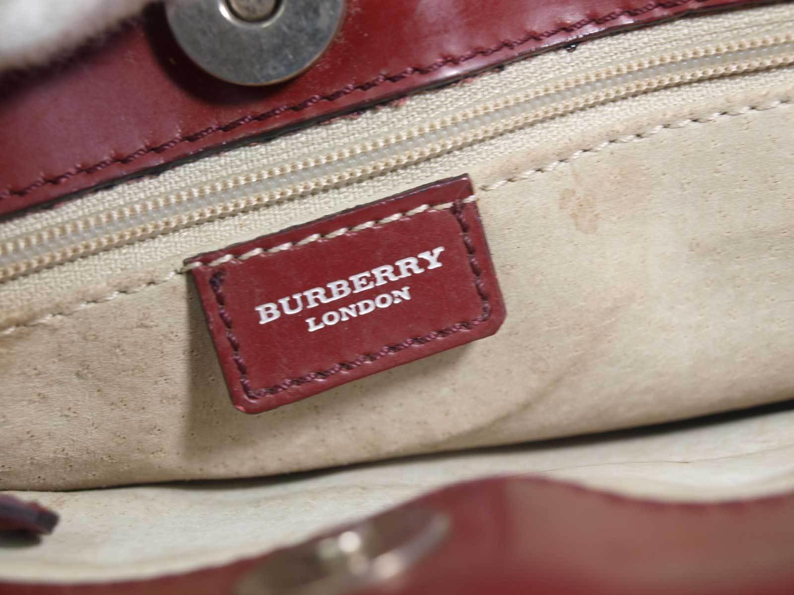 1b664b70dc99 ... Authentic BURBERRY LONDON Nova Check PVC Canvas Leather Beige Tote Bag  BT16335L ...