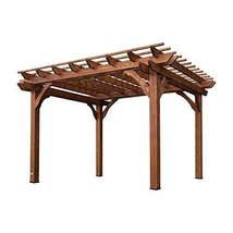 12 x 10 Pergola Solid Hard Wood Frame Outdoor Shade For Patio Sofa Table... - $1,415.07