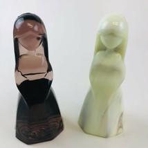 2 Mosser Glass ~ Vi Hunter ~ Jenny Dolls ~ Cameo Bronze & One Unmarked. - $15.84