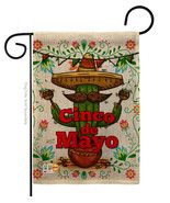 Cinco de Mayo Burlap - Impressions Decorative Garden Flag G135012-DB - $22.97