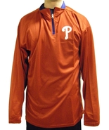 MLB Philadelphia Phillies Long Sleeve Quarter Zip Poly Jersey Jacket Hoodie - $29.95+
