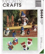 M9444 Snowman FROSTY FRIENDS Ornaments Stocking Garland Decor Pattern  - $8.95