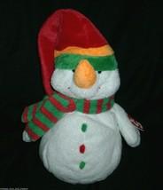 2003 Ty Pluffies Melton Snowman Christmas Stuffed Animal Plush Toy Soft W/ Tag - $14.03