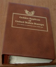Nice Collection of 62 Gold Replica Collectible Stamps, 22 Karat Gold, 19... - $247.49