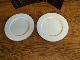 "2 Mikasa Briarcliffe Bone China Dinner Plates 10 1/2"" - $9.74"